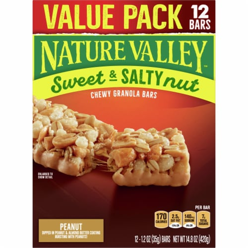 Nature Valley Sweet & Salty Nut Peanut Granola Bars Perspective: back