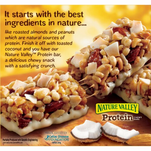 Nature Valley Protein Coconut Almond Chewy Bars Perspective: back
