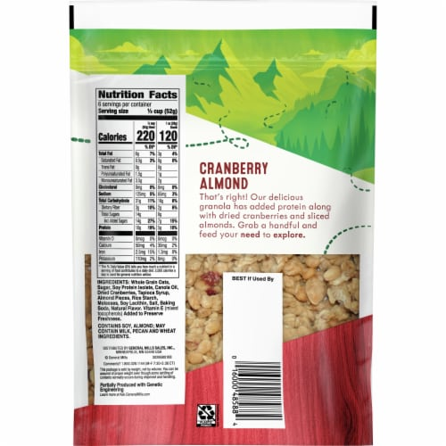 Nature Valley Cranberry Almond Protein Granola Perspective: back