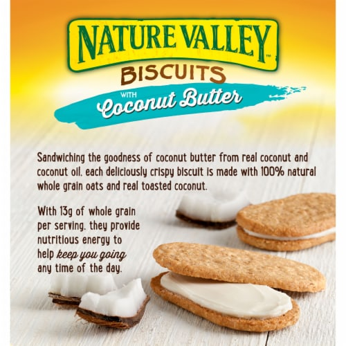 Nature Valley Coconut Butter Biscuits 5 Count Perspective: back