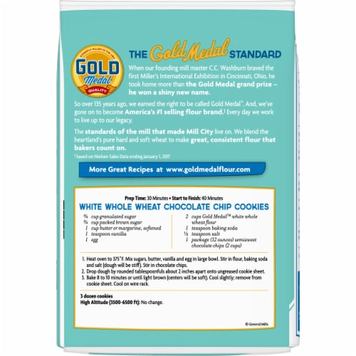 Gold Medal White Whole Wheat Flour Perspective: back