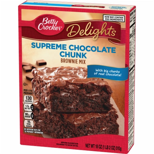 Betty Crocker Delights Supreme Chocolate Chunk Brownie Mix Perspective: back