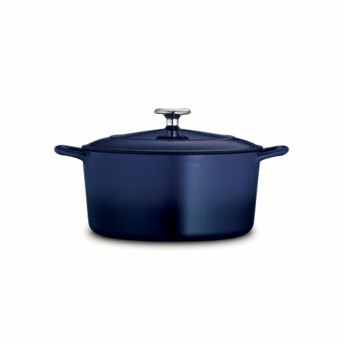 Tramontina Covered Round Dutch Oven - Blue Perspective: back