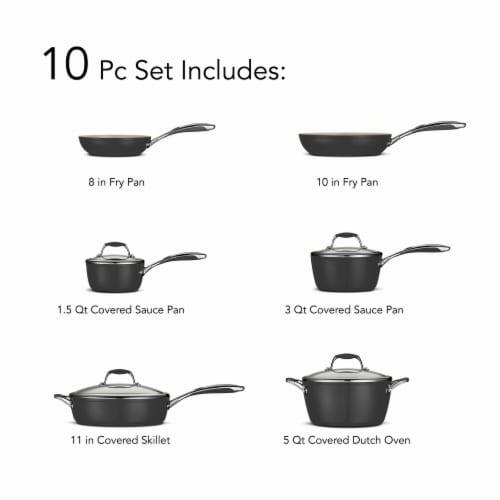 Tramontina Gourmet Cookware Set - Black Perspective: back