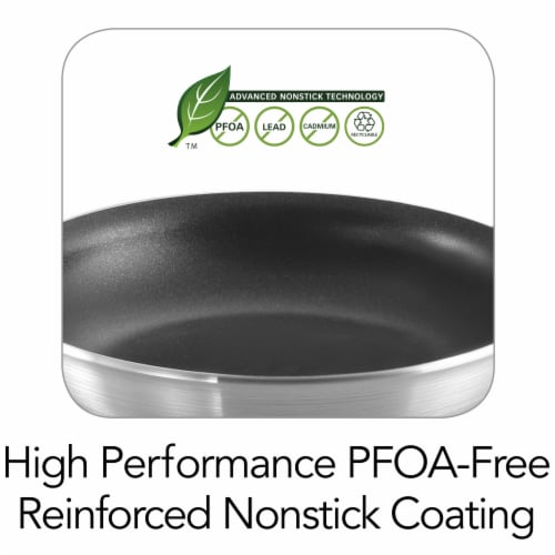 Tramontina Pro 3004 Fusion Restaurant Fry Pan - Gray Perspective: back