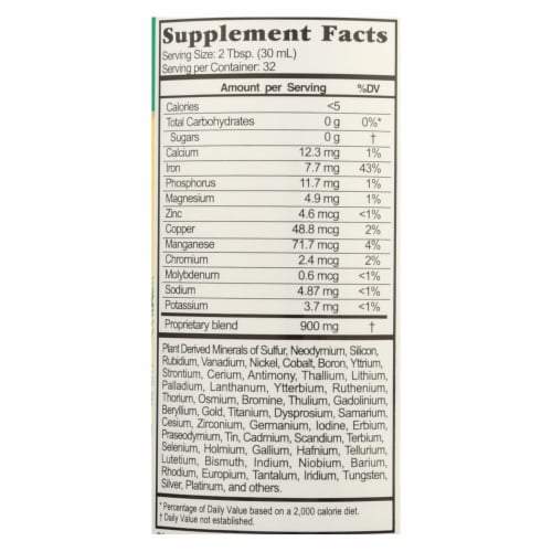 Buried Treasure™ Pure Colloidal Mineral Dietary Supplement Perspective: back