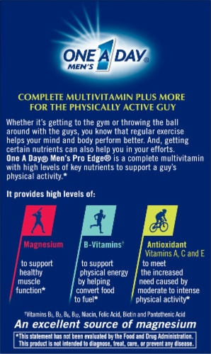 One A Day Men's Pro Edge Multivitamin Tablets Perspective: back