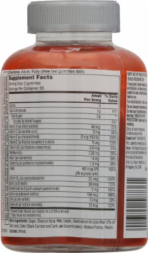 One A Day Women's 50+ Advanced Multivitamin Gummies Perspective: back