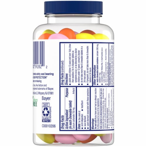 Alka-Seltzer Extra Strength Assorted Fruit Flavored Heartburn Relief Chews Perspective: back