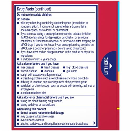 Alka-Seltzer Plus® Berry Max Strength Sinus Congestion & Pain Perspective: back