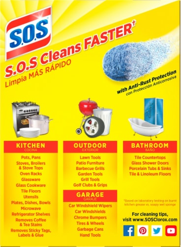 S.O.S.® Soap-Filled Reusable Steel Wool Pads Perspective: back