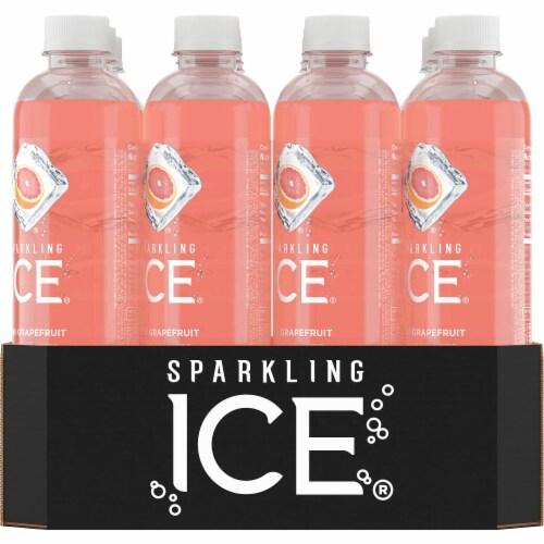 Sparkling Ice Pink Grapefruit Spring Water Perspective: back