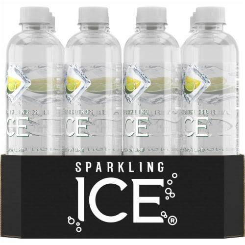 Sparkling Ice Lemon Lime Sparkling Water Perspective: back