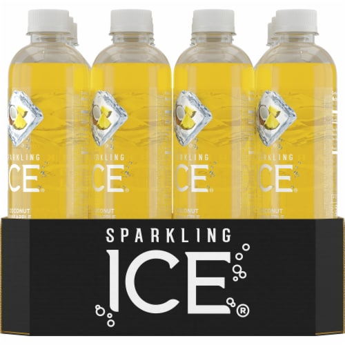 Sparkling Ice Coconut Pineapple Sparkling Water Perspective: back