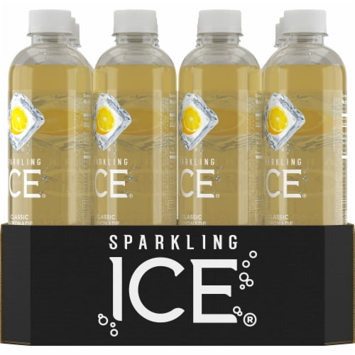 Sparkling Ice Classic Lemonade Sparkling Water Perspective: back