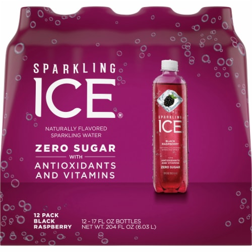 Sparkling Ice Black Raspberry Sparkling Water Perspective: back