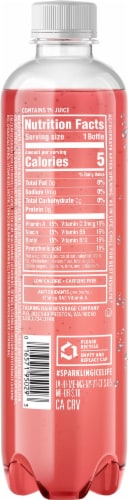 Sparkling Ice® Strawberry Lemonade Sparkling Water Perspective: back