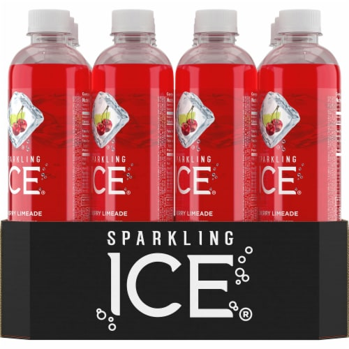 Sparkling Ice Cherry Limeade Sparkling Water Perspective: back