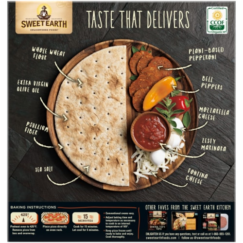 Sweet Earth Pepperoni Lover's Plant-Based Pepperoni Pizza Perspective: back