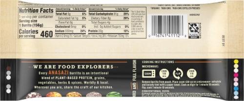Sweet Earth Enlightened Foods Anasazi Frozen Burrito Perspective: back