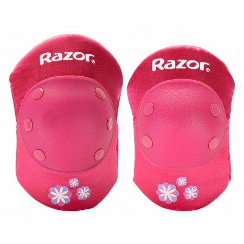 Razor 96783 Child Youth Kids Bike Elbow & Knee Pad Safety Set, Sweet Pea Pink Perspective: back
