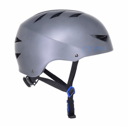 Razor 97860 V-12 Adult One Size Safety Multi Sport Bicycle Helmet, Satin Gray Perspective: back