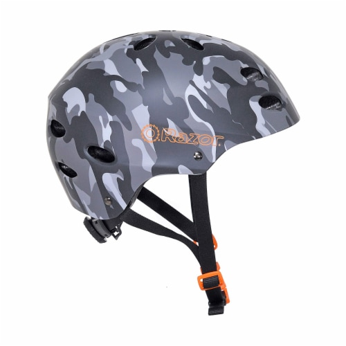 Razor 97866 V-12 Children Youth Safety Multi Sport Bicycle Helmet For Kids, Gray Perspective: back