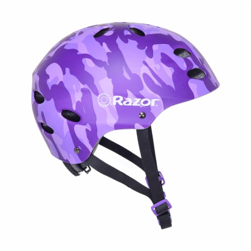 Razor 97868 V-17 Youth Safety Multi Sport Bicycle Helmet For Kids 8-14, Purple Perspective: back