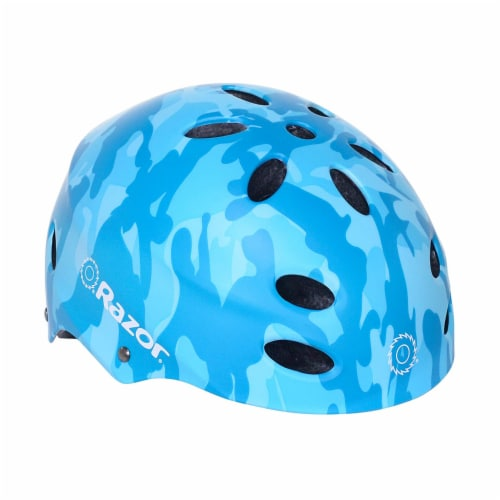 Razor 97869 V-17 Youth Safety Multi Sport Bicycle Helmet For Kids 8-14, Blue Perspective: back