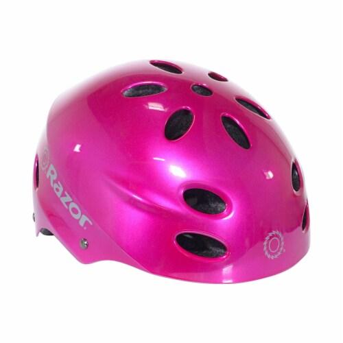 Razor 97956 V-12 Children Youth Safety Multi Sport Kids Bicycle Helmet, Pink Perspective: back