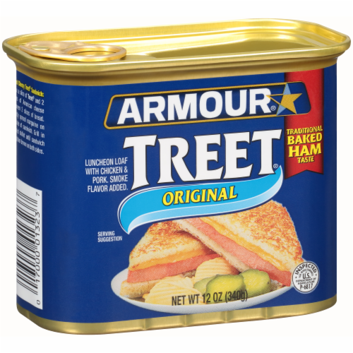Armour Original Treet Canned Meat Perspective: back