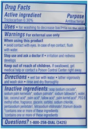 Dial Spring Water Antibacterial Deodorant Soap Bars Perspective: back