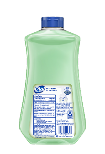 Dial Complete Fresh Pear Antibacterial Foaming Hand Soap Refill Perspective: back