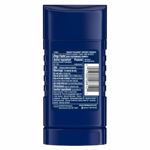 Right Guard 3D Sport Invisible Solid Fresh Deodorant Perspective: back