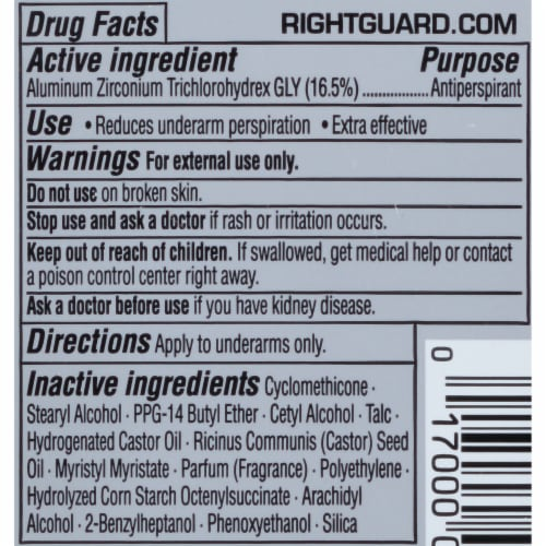 Right Guard Xtreme Defense Arctic Refresh Antiperspirant Stick Perspective: back