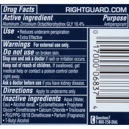 Right Guard Sport Fresh Antiperspirant Perspective: back