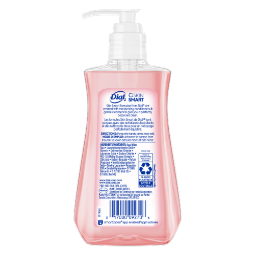Dial Himalayan Pink Salt & Water Lily Hydrating Liquid Hand Soap Perspective: back