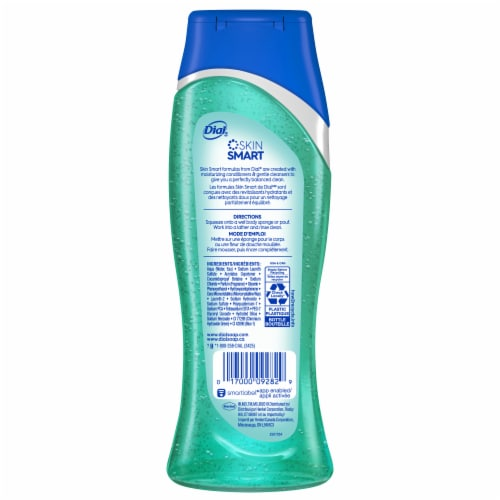 Dial Sea Minerals Enriching Body Wash Perspective: back