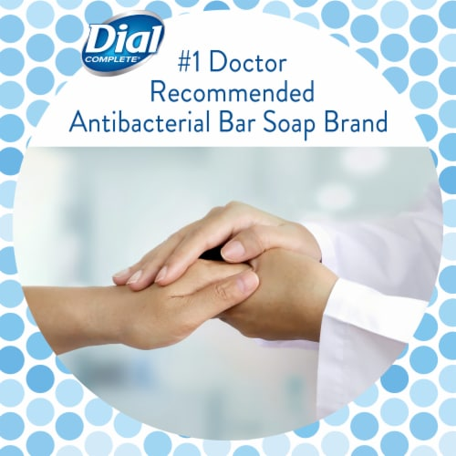 Dial® White Antibacterial Bar Soap Perspective: back