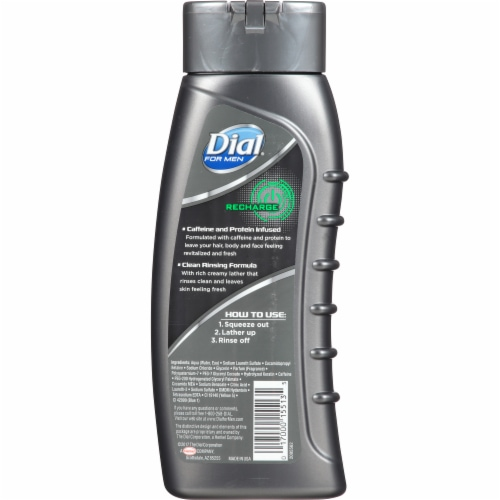 Dial For Men Recharge 3-in-1 Revitalizing Body Wash Perspective: back
