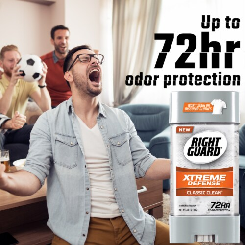 Right Guard® Xtreme Defense Classic Clean Deodorant Perspective: back