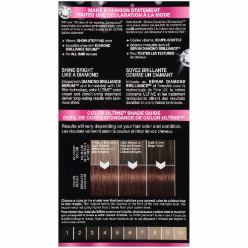 Schwarzkopf® Color Ultime® 6.86 Sparkly Light Brown Permanent Hair Color Perspective: back