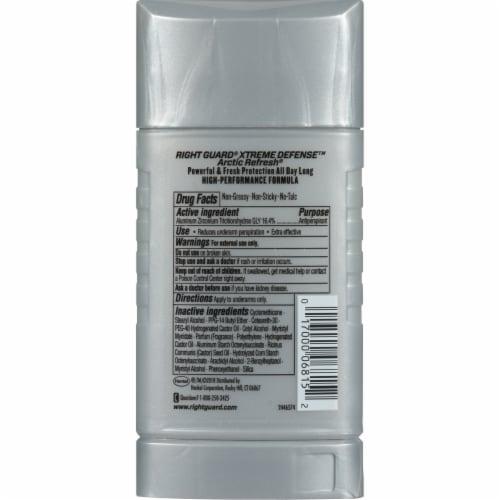 Right Guard Xtreme Defense Arctic Refresh Deodorant Perspective: back