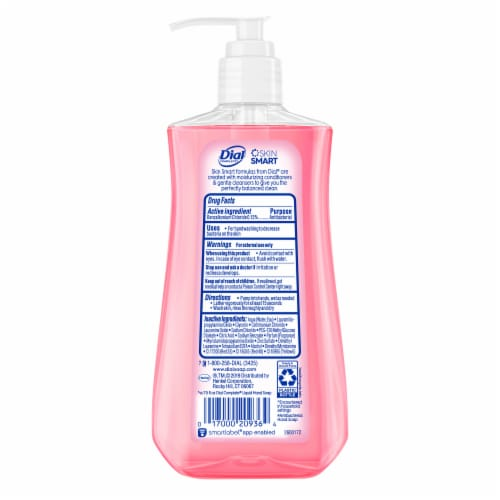 Dial Complete Sweet Watermelon Antibacterial Liquid Hand Soap Perspective: back