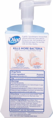 Dial Complete Clean + Gentle Fragrance Free Antibacterial Foaming Hand Wash Perspective: back