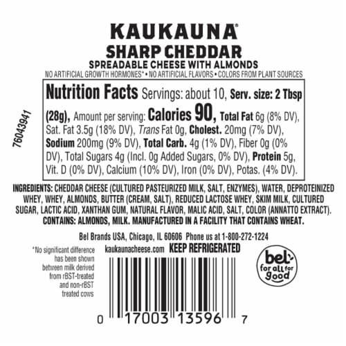 Kaukauna Sharp Cheddar Cheeseball Perspective: back