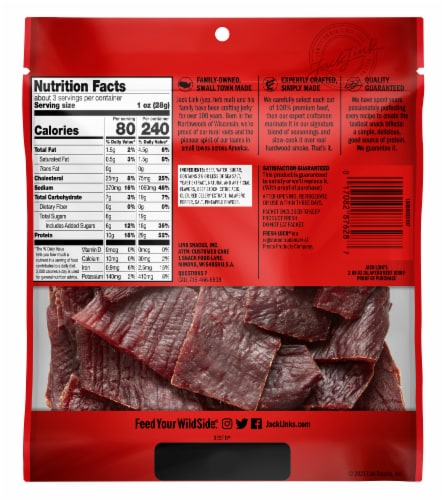 Jack Link's Jalapeno Carne Seca Beef Jerky Perspective: back