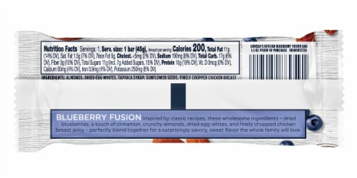 Lorissa's Kitchen Blueberry Fusion Whole-Made Medley Bar Perspective: back