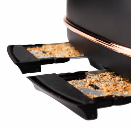 Haden Heritage 4-Slice Toaster - Black/Copper Perspective: back