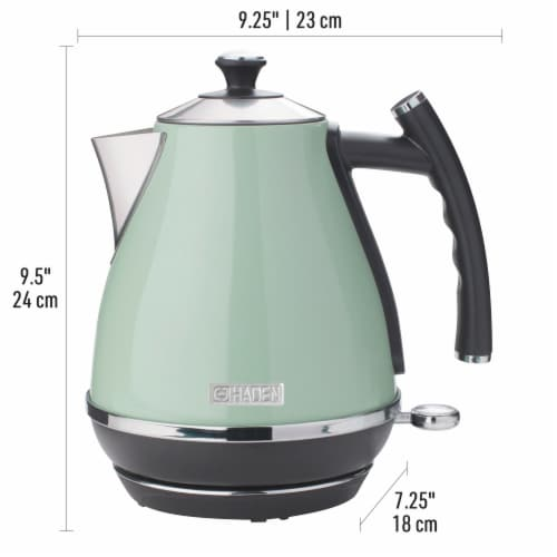 Haden Cotswold Stainless Steel Cordless Electric Kettle - Sage Green Perspective: back